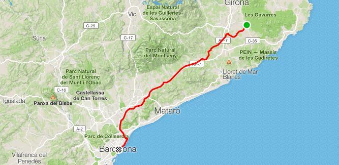 11° Giorno da Cassà de la Selva a Barcelona