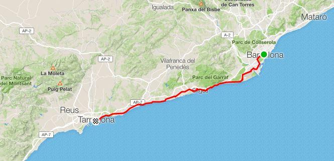 12° Tappa da Barcelona a Tarragona
