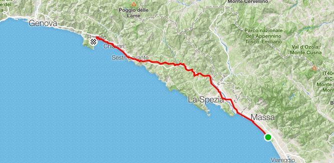 1° Tappa da Forte dei Marmi a Santa Margherita Ligure
